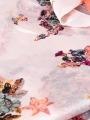 Maxi animal print scarf Pink