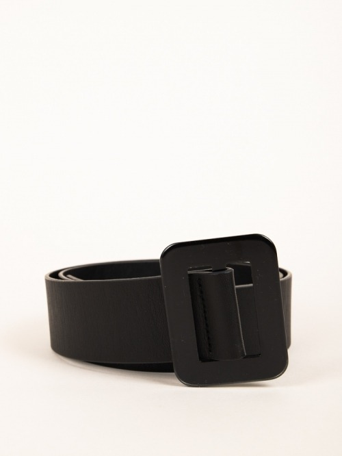 Trendy rectangular buckle belt Black