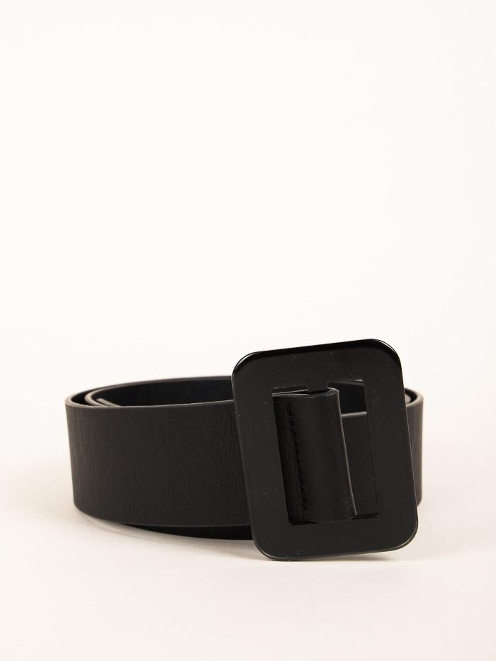 Trendy rectangular buckle belt Black