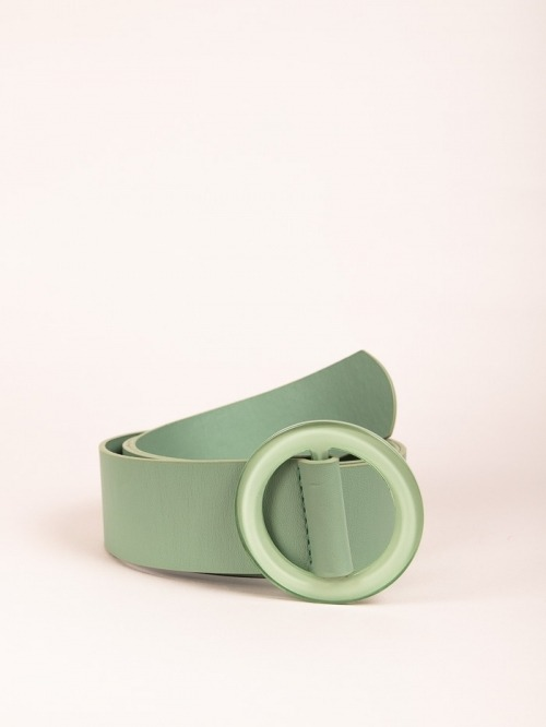 Trendy Plain Belt Green