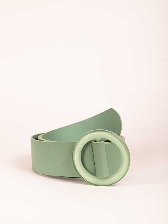 Trendy Plain Belt Green