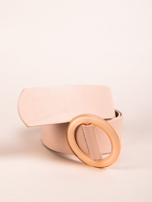 Trendy Plain Belt Pink