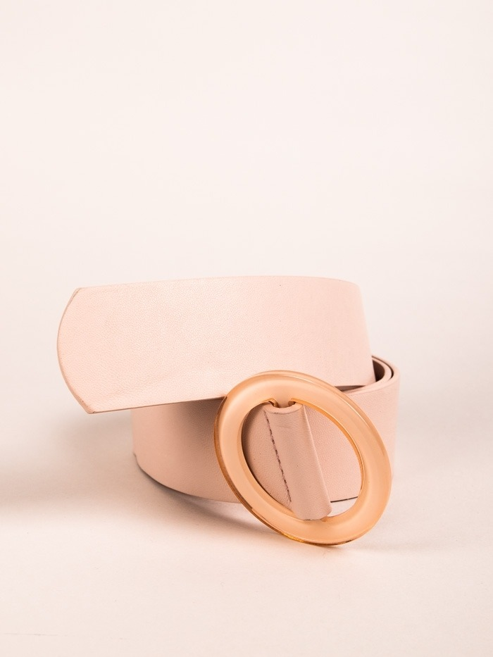 Trendy Plain Belt Pink