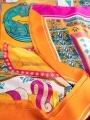 Printed bimba scarf Orange