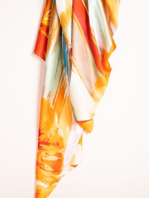 Printed bimba scarf Beige