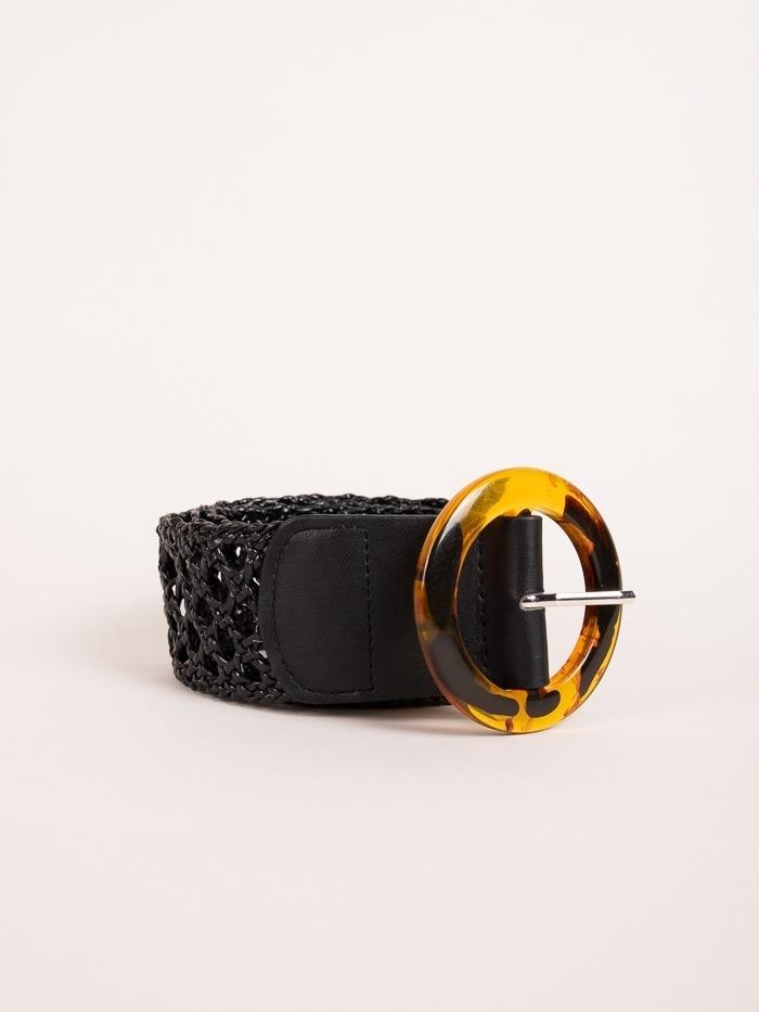 Cinturón retro mujer Negro