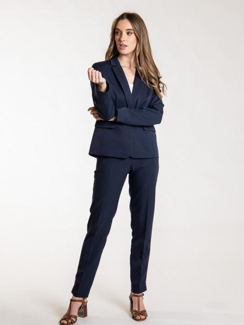 Essence plain blazer Blue Navy