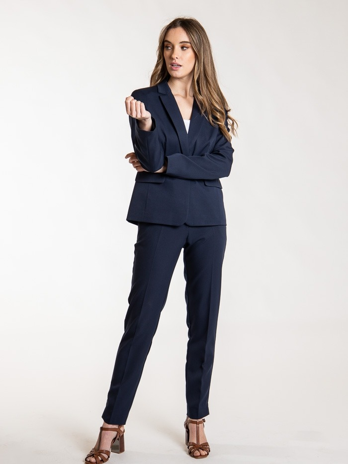 Essence plain blazer Blue Navy
