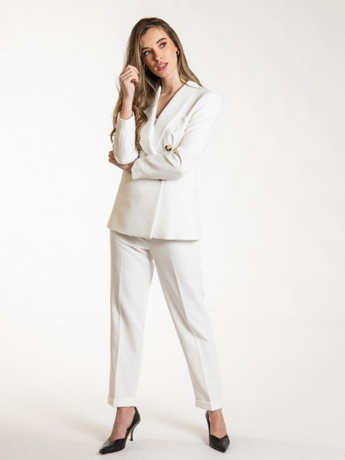 Women long blazer Crudo