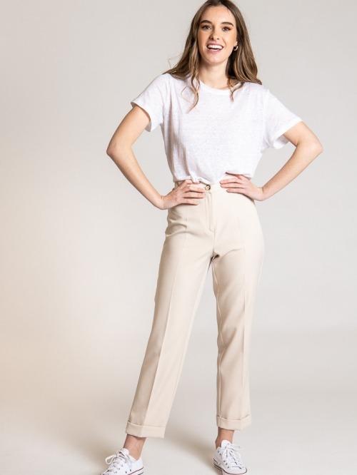 Capri comfort pants Beige