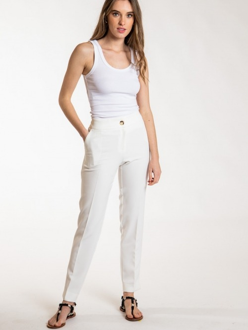 High rise pants with pockets Crudo