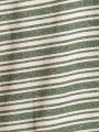 Camiseta rayas detalle brillo Caqui