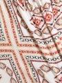 Long ethnic print dress ESTAMPADO 1
