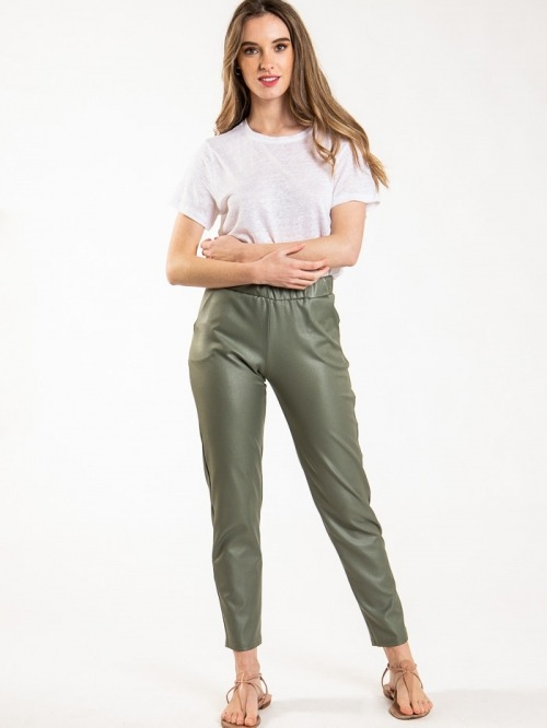 Women waxed trousers Khaki