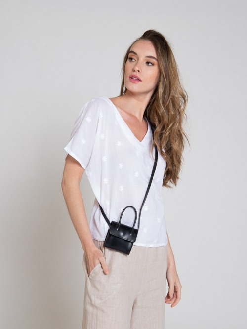 Synthetic leather bag Black