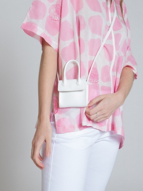 Synthetic leather bag White