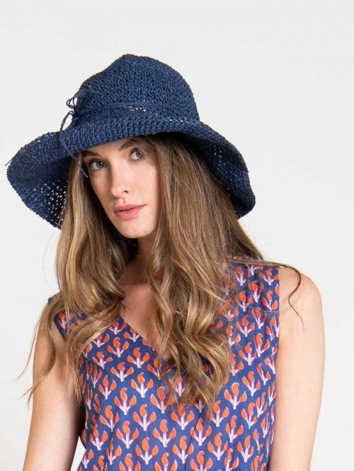 Women hat Blue Navy