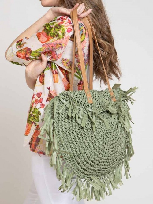 100% recycled bag Green