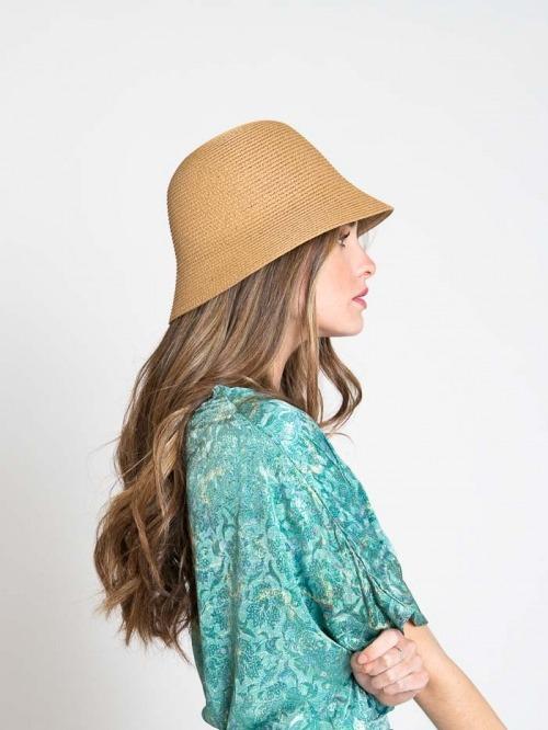 Sombrero 100% papel Beige