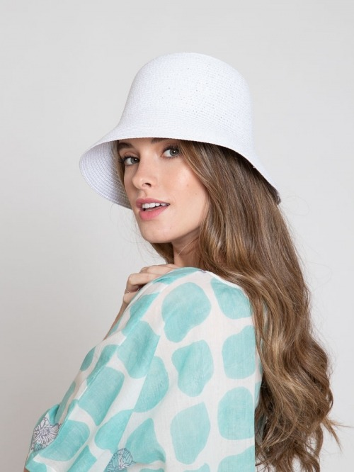 100% paper hat White