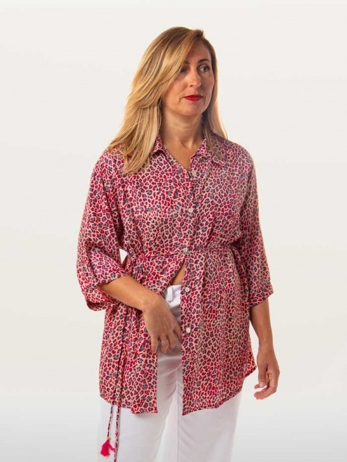 Flowy button-down shirt ROJOS
