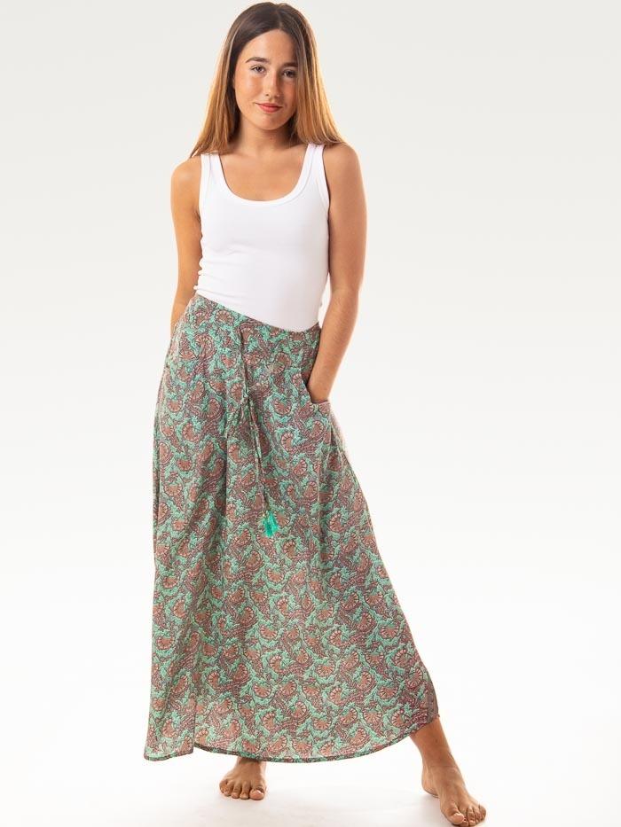 Flowy printed skirt AQUAS