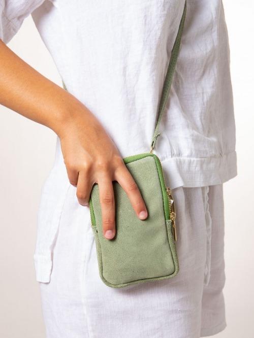 Porta movil mujer Verde