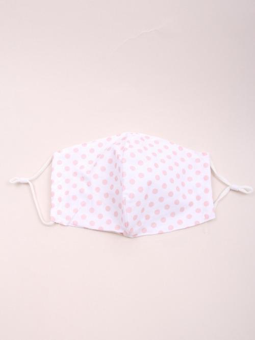 Polka dot cotton mask Pink