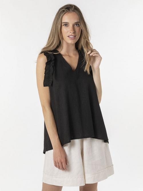 Linen top Black