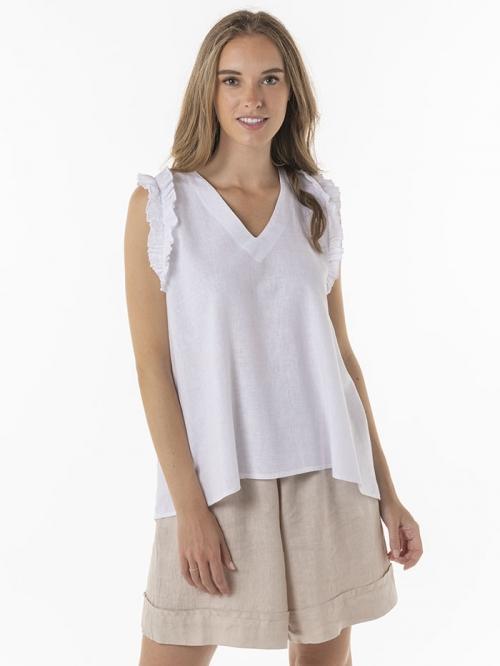Linen top White