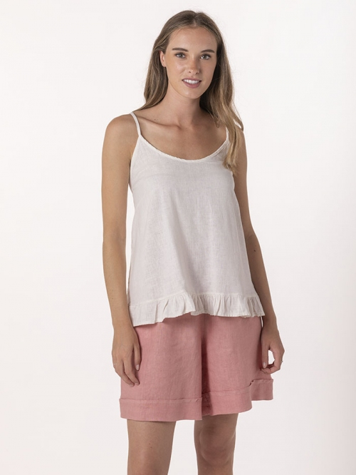 Linen top with straps Marfil