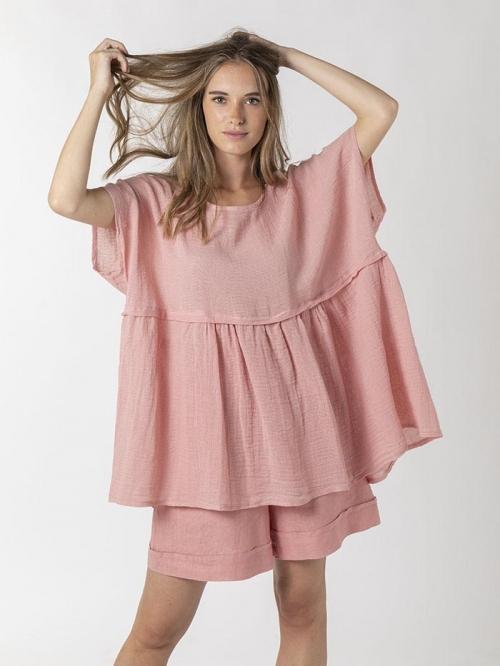 Ovesize linen shirt Pink