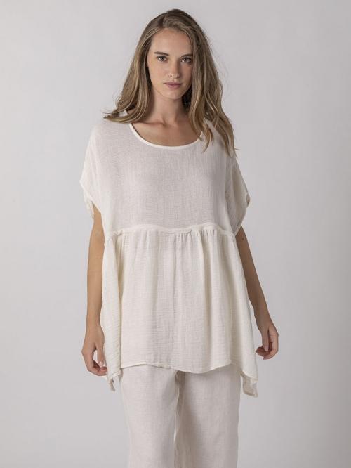 Ovesize linen shirt Marfil