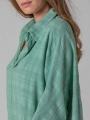 Oversized dress with shirt collar Aqua