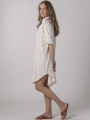 Oversized dress with shirt collar Marfil