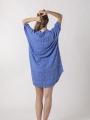 Oversized dress with shirt collar Blue