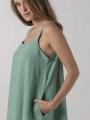 Long linen dress Aqua