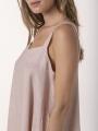 Long linen dress Pink