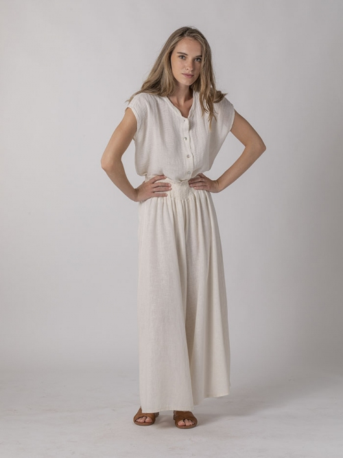 Oversized linen trousers Marfil
