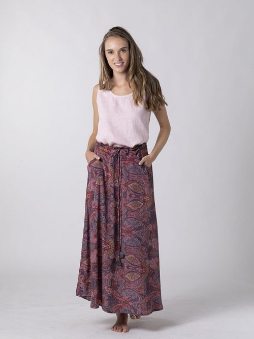 Flowy printed skirt Bluees marinos