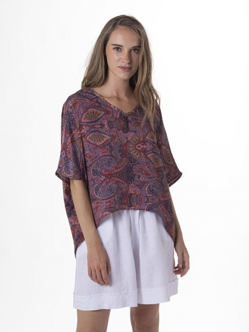 Flowy printed blouse Bluees marinos