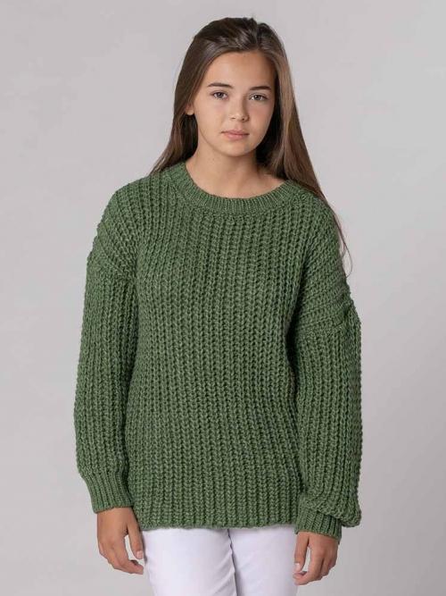 Jersey corto de punto Verde