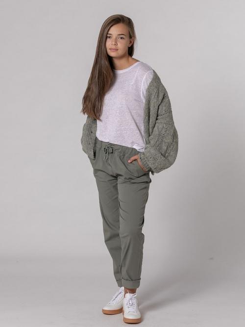 Pantalón loneta sport bolsillos Caqui
