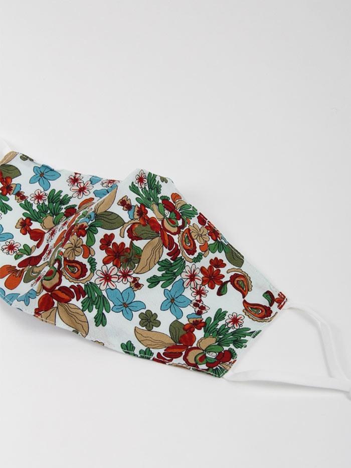 Woman Floral prit mask Crudo