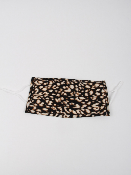 Mascarilla animal print Negro