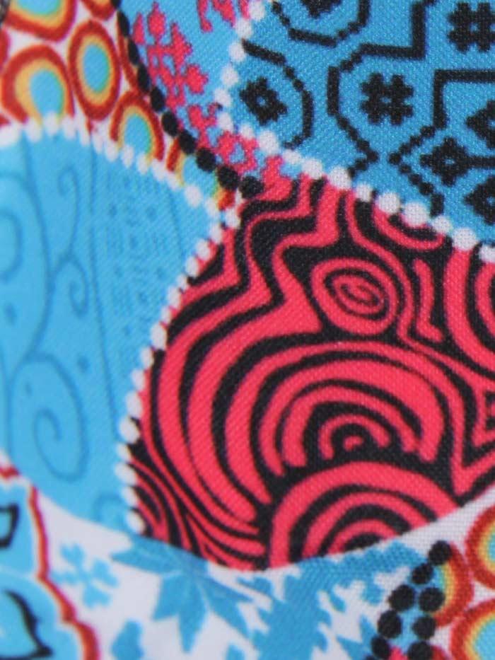 Marcarilla mujer patchwork Turquesa