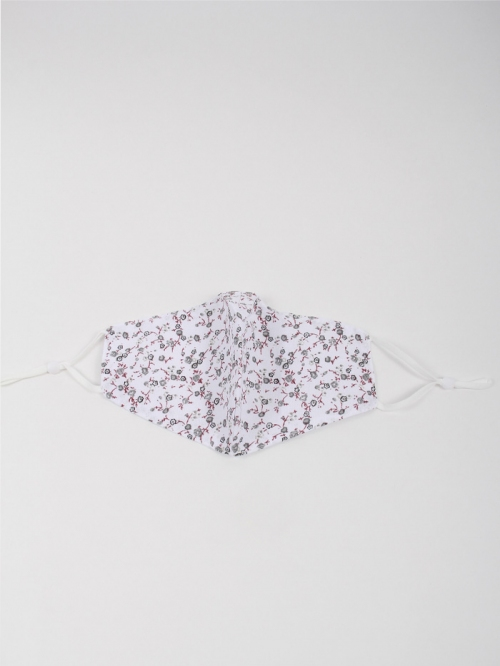 Mascarilla florecita Blanco