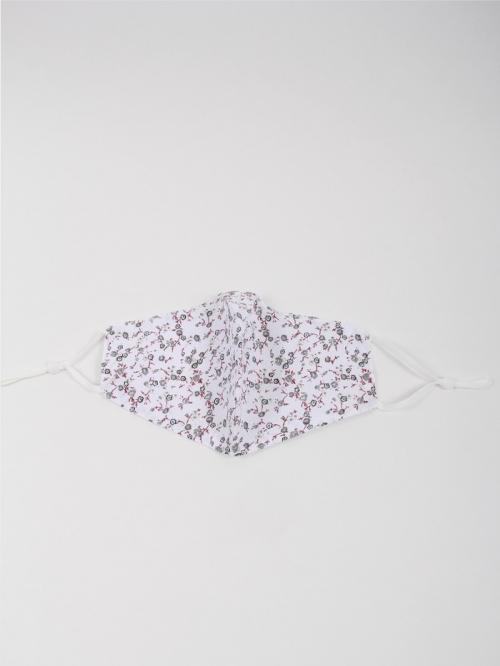 Mascarilla mujer florecita Blanco
