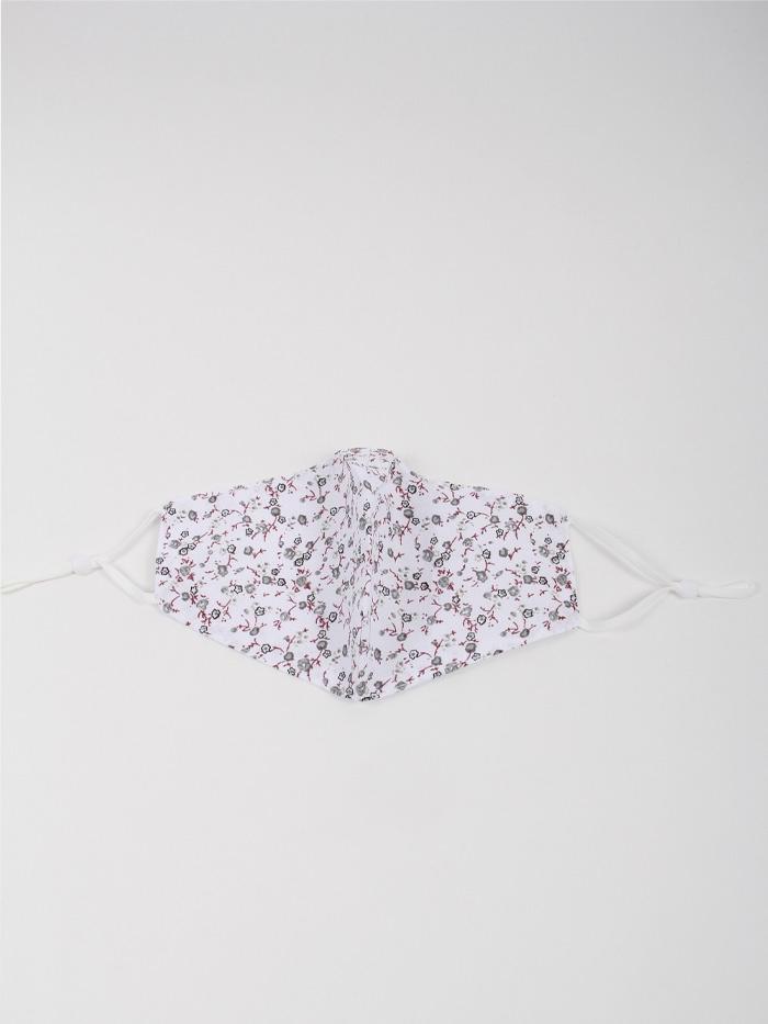 Woman Little flower mask White