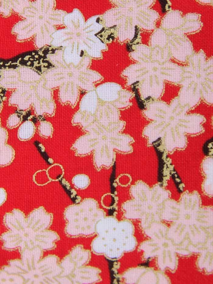 Mascarilla mujer floral Granate